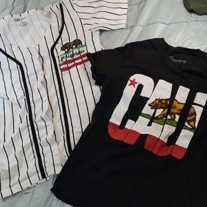 2 California Shirts Sz. Sm and Med
